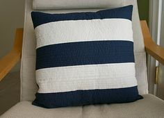 Tutorial - Quilted Big Stripe Pillow