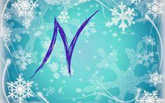 Alfabeto nevando tipo Frozen. | Oh my Alfabetos!