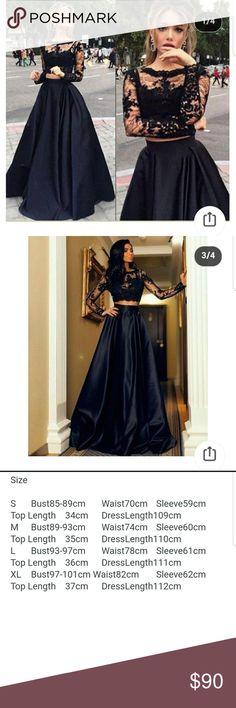 Formal dress Black 2 piece Dresses Prom