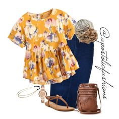 """Apostolic Fashions #1738"" by apostolicfashions on Polyvore featuring Nobody Denim, Rampage, UNIONBAY, Armani Exchange and Chicnova Fashion"