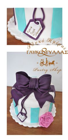 Gift box cake with bow!!!