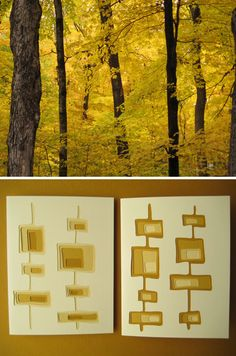 Autumn in the yellow woods.