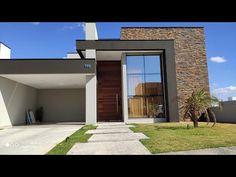 Modern House Facades, Modern Bungalow House, Bungalow House Design, House Front Design, Minimalist House Design, Modern House Design, One Storey House, 3d House Plans, House Construction Plan