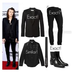 """Harry at the billboard music awards 5.17.15"" by nikka-phillips ❤ liked on Polyvore featuring Seed Design and Yves Saint Laurent"