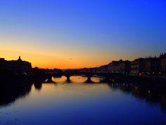 Ponto Vecchio sobre o rio Arno