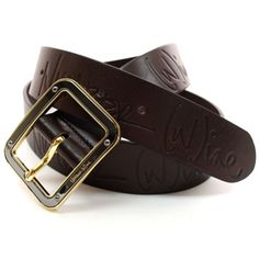 (JPB004-DARKBROWN) Casual Leather Belt from W28 to W35