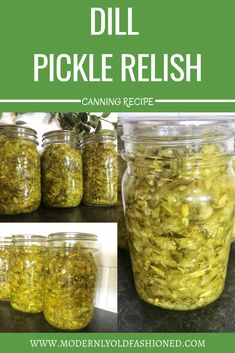 An easy way to use up your end-of-season or too-large cucumbers! Dill Pickle Relish is great on hotdogs, brats, or whip up a delicious homemade tartar sauce! One of the easiest recipes to can! Dill Pickle Relish Canning Recipe, Ball Canning Recipe, Cucumber Relish Recipes, Home Canning Recipes, Canning Pickles, Canning Tips, Dill Pickle Recipes, Canning Brine Recipe, Recipes