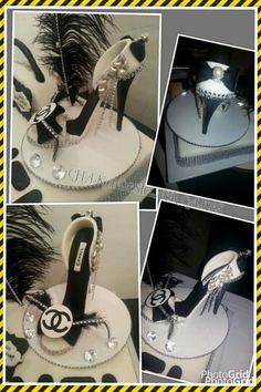 Chanel gumpaste shoe!