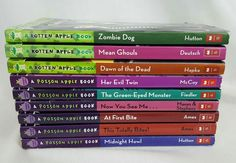 Lot of 9 Poison & Rotten Apple Series Chapter Books Ages 8-12 Gr 3-7 AR 4.2-5.4