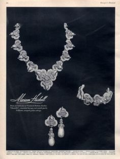 Miriam Haskell Jewelry Fashion 1962 Chantilly Baroque Pearls