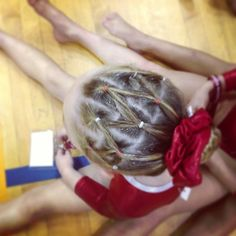 prime gymnastics hair with sparkles Dance Hairstyles, Workout Hairstyles, Little Girl Hairstyles, Cute Hairstyles, Braided Hairstyles, Hairstyle Ideas, Gymnastics Meet Hair, Gymnastics Stuff, Competition Hair