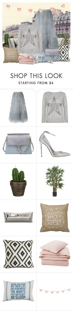 """""""VAlentino Butterfly skirt"""" by gabriela2105 ❤ liked on Polyvore featuring Valentino, Monsoon, Chloé, Jimmy Choo, John Lewis and Lexington"""