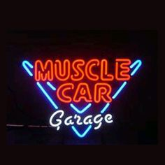 Muscle Car Garage Shop Open Neon Sign///How I love you neon signs , Real nice for my Home Bar Deco