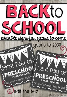 First Day of School Sign Free First Day Of School Pictures, 1st Day Of School, Beginning Of The School Year, School Photos, School Fun, School Days, School Stuff, Back To School Party, Going Back To School