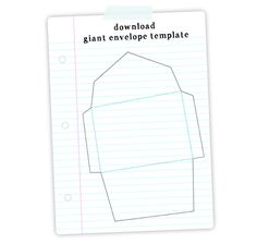 free Giant Envelope Template download