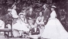The children of Queen Victoria and Prince Albert. 1865.  The children are:-  Albert Edward, Victoria, Alice, Alfred, Helena, Louise, Arthur, Leopold and Beatrice.