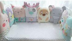 Купить Бортики в кроватку, бортики для новорожденного - комбинированный, бортики в кроватку, бортики для кроватки, бортики подушки