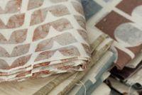 Nancy Straughan Printed Textiles  (brown stripe for J pillow)