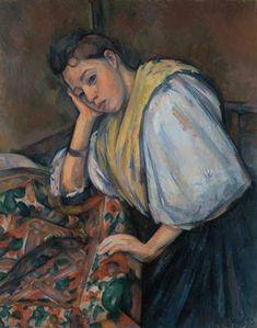 La jeune italienne, par Paul Cézanne