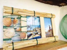 Cornice foto (bambù conchiglie compensato)