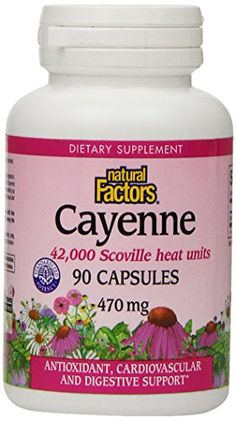 Natural Factors Cayenne 470mg Capsules 90Count >>> Read more reviews of the product by visiting the link on the image.  This link participates in Amazon Service LLC Associates Program, a program designed to let participant earn advertising fees by advertising and linking to Amazon.com.
