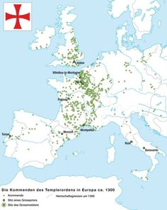 Knights Templar sites in Europe.