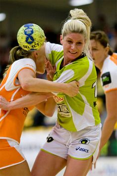 When I was a little girl I saw Rikke Hørlykke, on the national team. She was playing handball at the national team. I get so inspired about her.  When I saw Rikke play handball I was thinking: I want to be like her, I want to play handball all my life