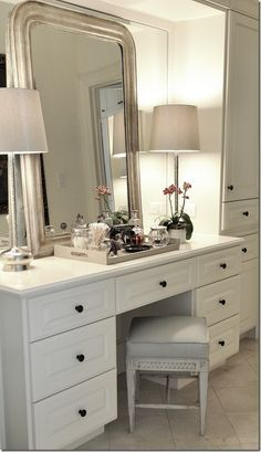 mirror above dressing table - Google Search