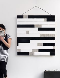 #DIY Painting made out of wood - #101woonideeen.nl - Dutch interior and crafts magazine