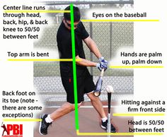 How To Hit A Baseball. Is it possible to hit a baseball like the best players of the world do, even if you're an amateur? Read the full article and discover tips for baseball players on how to improve your swing and your stance. Baseball Pitching, Best Baseball Player, Softball Drills, Baseball Tips, Softball Coach, Little League Baseball, Baseball Training, Baseball Season, Sports Baseball