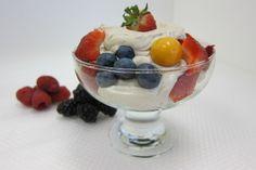 Fruit Salad with Fresh Coconut Cashew Cream