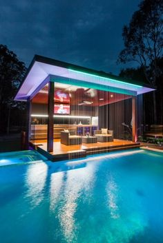 Outdoor Kitchen And Pool Backyard. Home Architecture Design Features Cool Outdoor Living . Home and Family Future House, Luxury Pools, Luxury Swimming Pools, Luxury Spa, Luxury Decor, Dream Pools, Swimming Pool Designs, Pool House Designs, Cool Pools