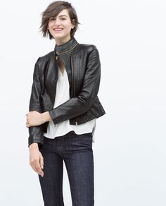 LEATHER TAILORED JACKET-View all-Jackets-WOMAN | ZARA United States