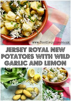 Jersey Royals with Wild Garlic and Lemon Barbecue Side Dishes, Best Side Dishes, Healthy Side Dishes, Vegetarian Recepies, Vegetarian Dish, Healthy Recipes, Delicious Recipes, Potato Recipes, Chicken Recipes