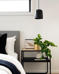 B E D S I D E M A N N E R   The bedside table. A space to display beautiful objects...or collect phone chargers, Panadol and hair… Montgomery Homes, Bedside, Floating Nightstand, Objects, Display, Interior Design, Maida Vale, Space, Bedroom
