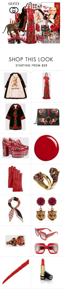 """Gucci Tiger Dress"" by kyoto-owl ❤ liked on Polyvore featuring Gucci"