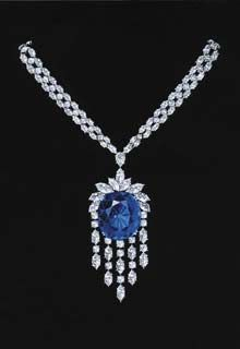 Sapphire and Diamond Necklace ~Harry Winston needs no introduction in the world of jewelry.Right from the richest in the world to Hollywood stars,love to have Harry Wins. Harry Winston, Sapphire Jewelry, Diamond Jewelry, Diamond Necklaces, Statement Necklaces, Jewelry Necklaces, Jewellery, Diamond Gemstone, Diamond Pendant