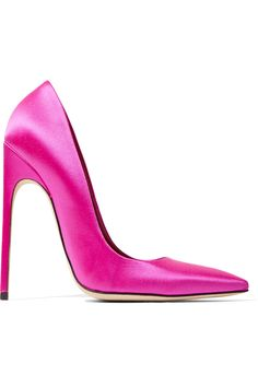 BRIAN ATWOOD Neon Satin Pumps. #brianatwood #shoes #pumps