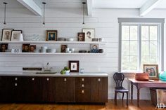 I'm attracted to the mix of the modern with vintage style. The shiplap walls and rustic woods