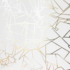 ANGLES gold / white wallpaper by Erica Wakerly