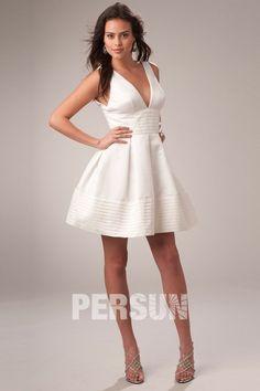 Robe de soiree blanche courte pas cher