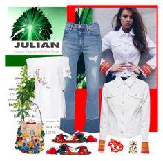 """Julian Luxury Fashion Online Shop"" by carola-corana ❤ liked on Polyvore featuring Don't Cry, Tory Burch, Dolce&Gabbana, Oscar de la Renta, Alexander McQueen and Julian"