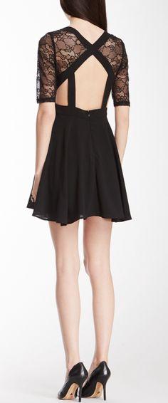 Lace cut out dress