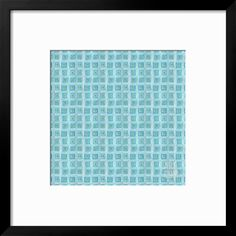 Freehand Turquoise Squares Giclee Print by Effie Zafiropoulou at Art.com