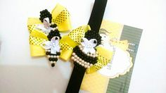 Kit abelhinha  Acessórios para cabelos infantis Pérolas  Laços Lili Bittencourt
