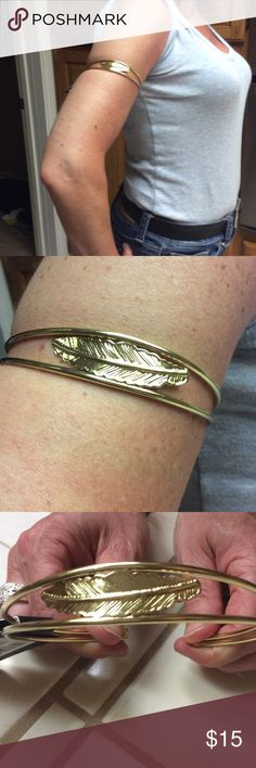 Gold leaf arm bandTODAY ONLY Boohoo Boohoo Jewelry Bracelets