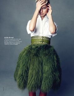 Karolina Kurkova   Vogue China Feb 2012  birds of a feather skirt, love it!    Kurkova-Sakai-20111219-12.jpg 500×649 pixels
