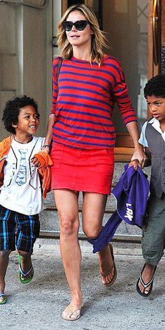Heidi Klum and her children.