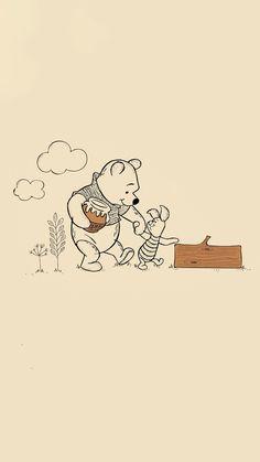 Cute Patterns Wallpaper, Cute Disney Wallpaper, Wallpaper Iphone Disney, Cute Wallpaper Backgrounds, Cute Wallpapers, Winnie The Pooh Drawing, Cute Winnie The Pooh, Winne The Pooh, Bear Wallpaper