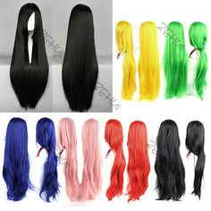 Long Wigs Hair Cosplay Wigs Heat Resistant in many colors, $14.74 (I am using dark blue for Princess Luna)